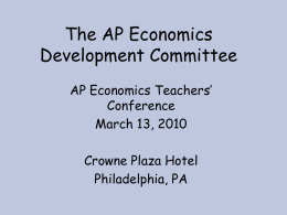 The AP Economics Development Committee