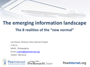 Title of Presentation Subhead - Pew Internet & American Life Project