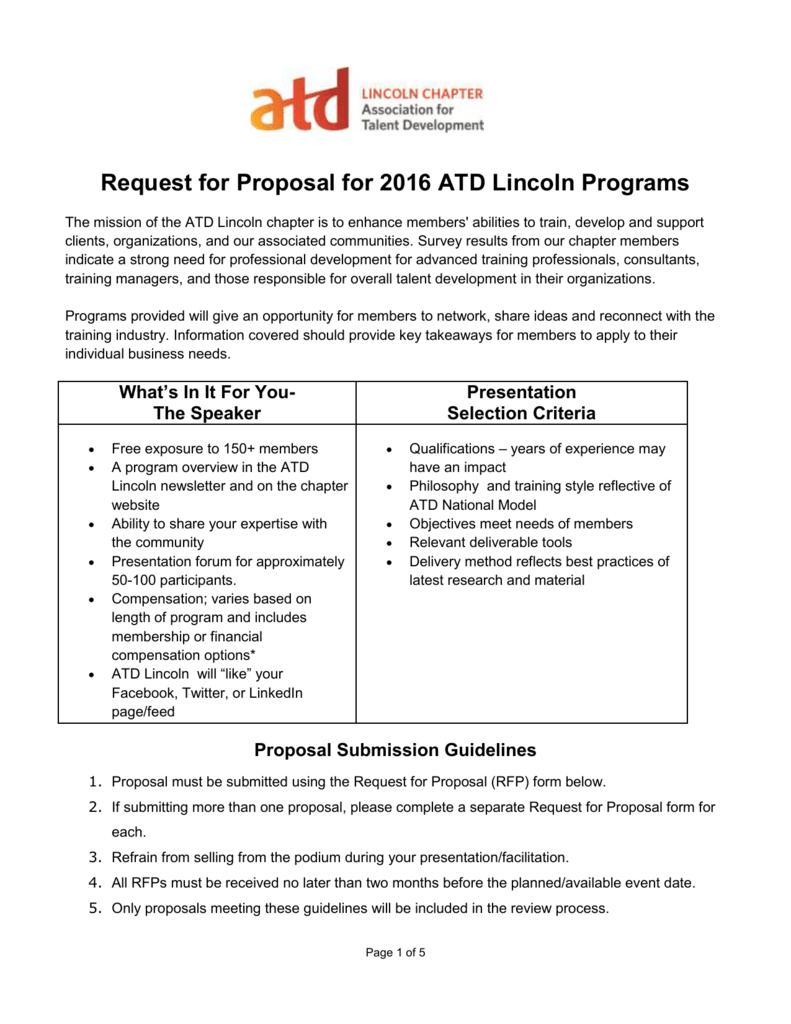 ATD Lincoln Blank RFP 2016 Form - ASTD