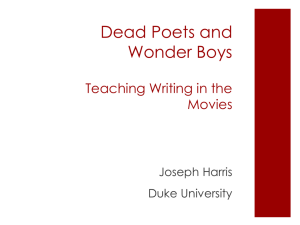 Dead Poets and Wonder Boys: Writing Teachers in the Movies