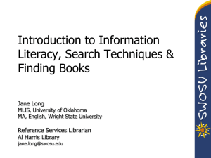 Presentation 1 - Research Techniques & Finding Books