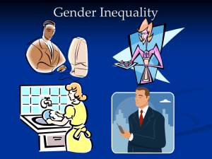 Gender Inequality – Student Presentation