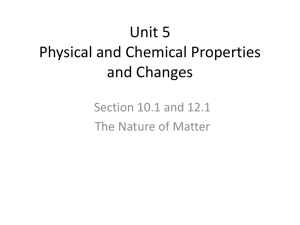 Physical and Chemical Prperties PPT