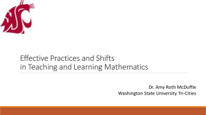 Best Practices/Shifts Math