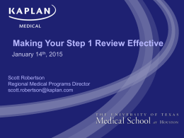 Making Your Step 1 Review Effective 2015 version