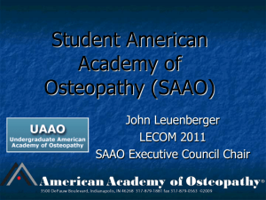 Osteopathic Outreach Presentation