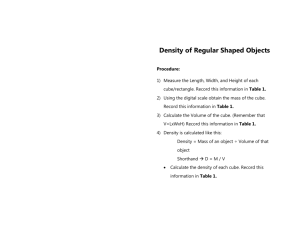 Density of Regular Shaped Solids