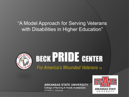Beck PRIDE CENTER - Arkansas State University
