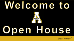 Open House Powerpoint - Office of Transfer Services