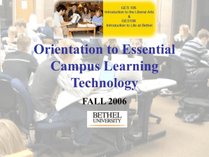 Orientation to Essential Campus Learning