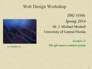 Lecture 2: git - University of Central Florida