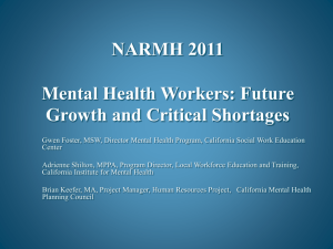 Mental Health Workers: Future Growth and Critical Shortages.