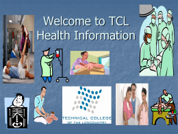 TCL Health Science Programs - Technical College of the Lowcountry
