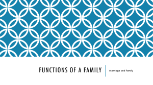 Functions of a Family - Miss Higgins Child Care Skills & Child