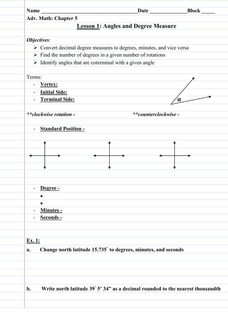 Coterminal Angles - Louisburg USD 416