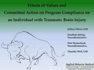 The Effect of Values Identification and Committed Action Formation