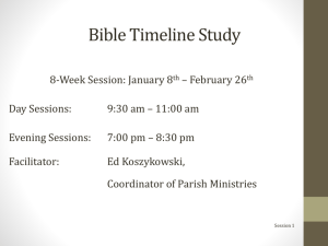 Bible Timeline Study - stnicholas - St. Nicholas Catholic Church in O