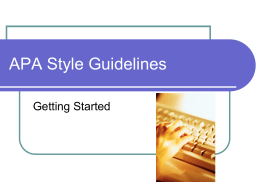 MLA Style Guidelines (5th Ed.)