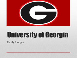 UGA Powerpoint - High School Portfolio