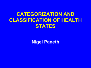 Disease Categorization and Classification