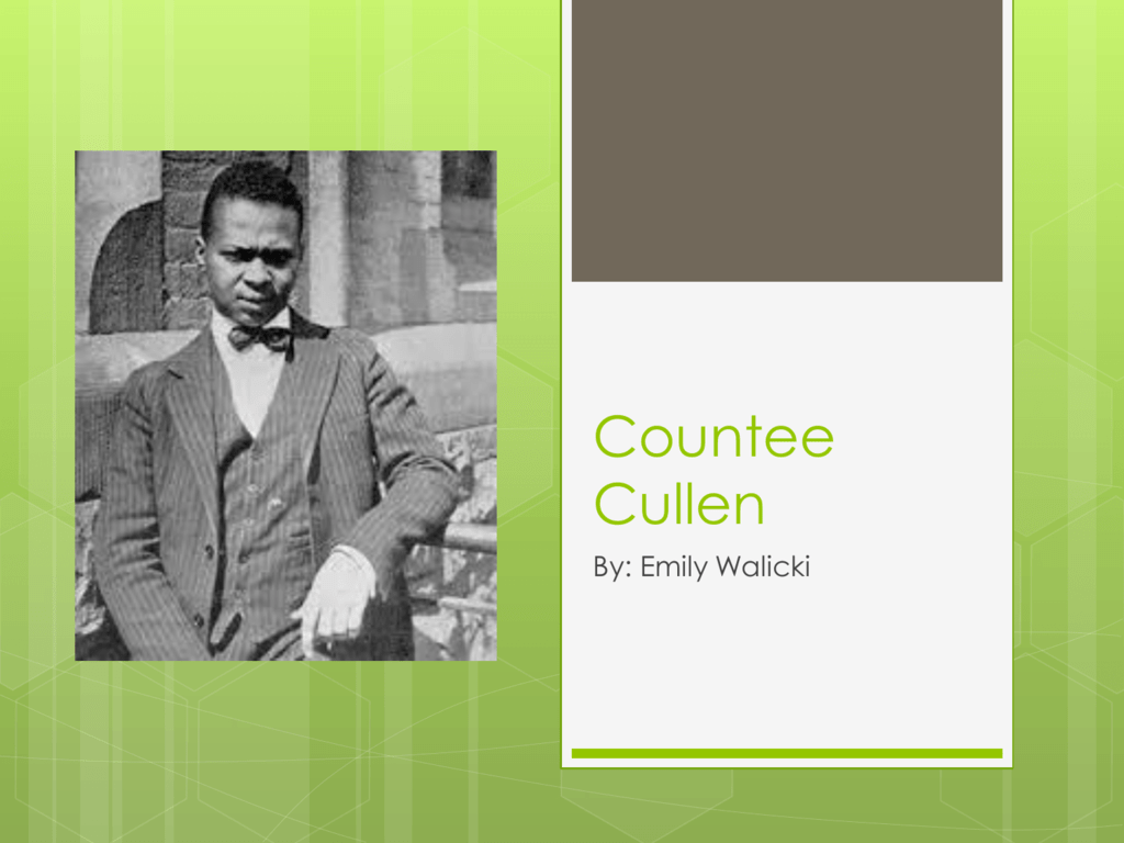 tableau by countee cullen analysis