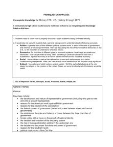 APUSH Midterm Exam Study Guide