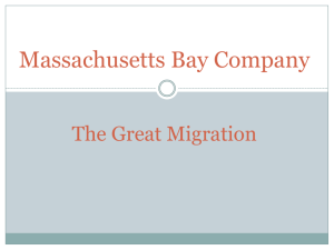 Massachusetts Bay Company The Great Migration