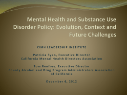 CIMH Institute CMHDA-CADPAAC Presentation 11-21-12