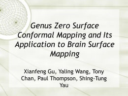 Genus Zero Surface Conformal Mapping and Its Application to Brain