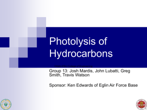 Photolysis of Hydrocarbons - FAMU