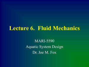Lecture 6. Fluid Mechanics