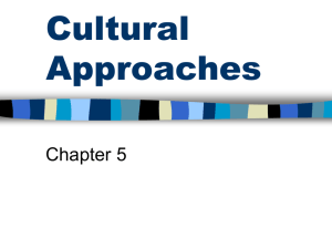 Cultural Approaches