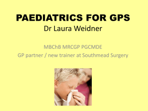 Paediatrics - Windsor VTS