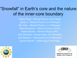 'Snowfall' in Earth's core and the nature of the inner