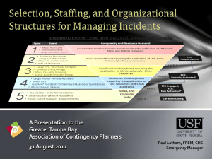 Selection, Staffing, and Organizational Structures for Managing