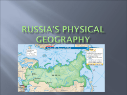 Russia's Physical Geography
