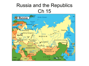 Russia and the Republics Ch 15