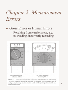720301 Electrical Instruments and Measurements