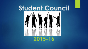 Student Council Launch assembly