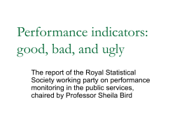 Performance indicators: good, bad, and ugly