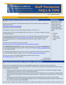 SPU Faqs & Tips Jan 2012