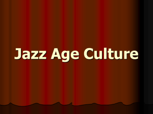 Jazz Age Culture 1920s Hollywood Silent Films