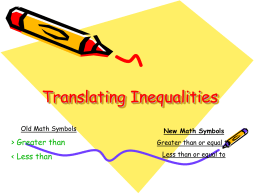 What Are Inequalities?
