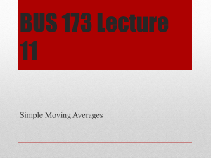 BUS 173 Lecture 11