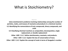 What is Stoichiometry 1