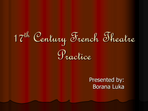 17th Century French Theater Practice