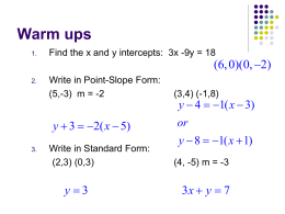 6-4 Slope-Intercept Form
