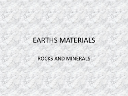 Earth rocks and minerals