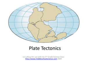 Plate Tectonics - Emerson Middle School
