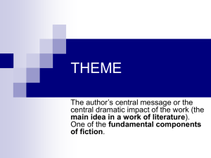 theme - CES1323CreativeWritingSkills